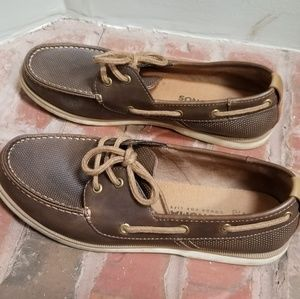 Sonoma Leather Boat Shoes